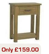 Lyon Oak 1 Drawer Console Table