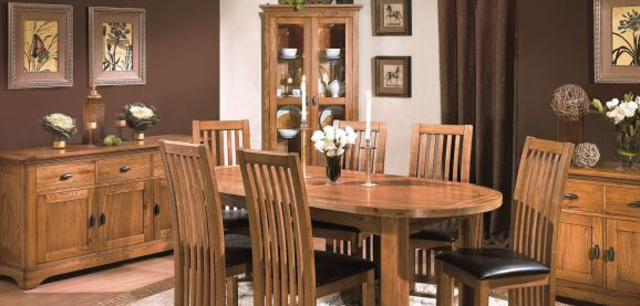 Toulouse Oak Dining Living