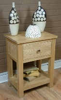 Mobel oak 1 drawer lamp table