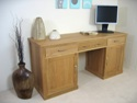 Large hidden office twin pedestal desk