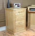Home office 2 drawer oak filing cabinet.