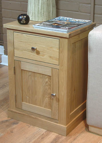 mobel oak 1 door 1 drawer lamp table mobel oak dining living room furniture