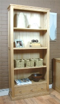 Large 3 drawer oak bookcase