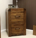 Shiro Walnut Two Drawer Filing Cabinet.
