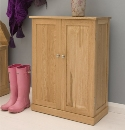 Mobel oak shoe cupboard