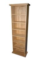Essentials oak double cd unit