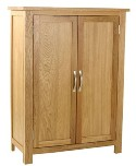 Essentials oak 2 door cupboard