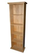 Essentials oak double dvd unit