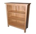 Essentials oak low bookcase