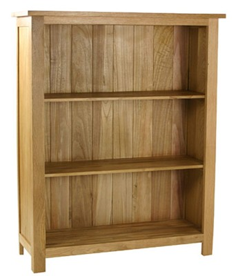Essentials oak small bookcase