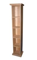 Essentials oak single dvd unit