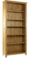 Essentials oak large tall bookcase