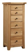 Colorado Oak 6 Drawer Wellington Chest
