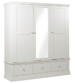 Annecy Triple Wardrobe With Drawers