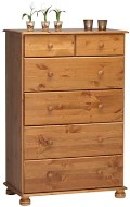 Richmond Pine 4+2 Deep drawer chest