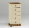 Richmond cream 5 drawer narrow chest
