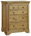 Loire Oak 2+3 Drawer Chest