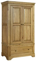 Loire Oak Double Wardrobe with Drawer