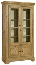 Loire Oak Glazed Display Cabinet
