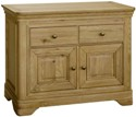 Loire Oak Small 2 Door 2 Drawer Sideboard