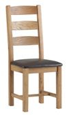 Corndell Lovell Lite 2 x Slatted Chair - PU Seat.