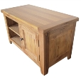 Barcelona Rustic Oak 1 Door TV Cabinet