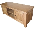Barcelona Rustic Oak 2 Door TV Cabinet