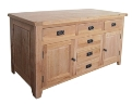 Barcelona Rustic Oak Large 2 Door 6 Drawer Sideboard