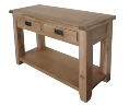 Barcelona Rustic Oak 2 Drawer Hall Table