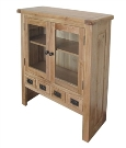 Barcelona Rustic Oak Small Top Display Unit