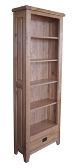 Barcelona Rustic Oak High Bookcase