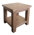 Barcelona Rustic Oak Lamp Table