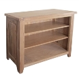 Barcelona Rustic Oak Low Bookcase