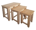 Barcelona Rustic Oak Nest of Tables
