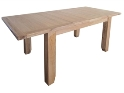 Barcelona Rustic Oak Large Extending Dining Table