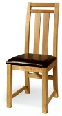 2 x Oregon Oak Neveda Dining Chairs