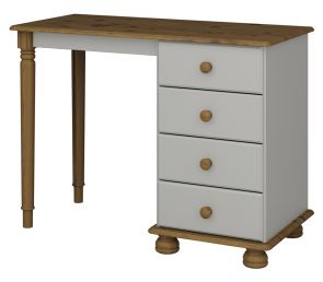 Richmond Grey Single Pedestal Dressing Table
