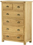 Portland Oak 4+2 Drawer Chest