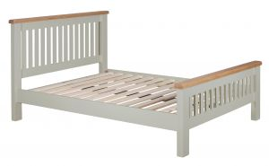 Toronto Oak and Grey Painted 4`6 Double Bed
