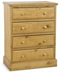 Welland Pine 4 Drawer Chest