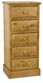 Welland Pine 5 Drawer Wellington Chest